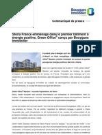 Steria France emménage dans le premier bâtiment à énergie positive, Green Office® conçu par Bouygues Immobilier