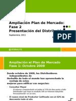Marketing Plan enhancement since sept 2011, español