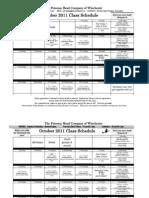 Sept_Oct2011 Class Schedule