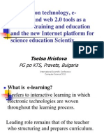 Information Technology, E-learning and Web 2