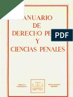 7ec307047f1f Adpcp Tomo Xlv Fasc. II, May-Ag 1992   Exclusión social   Derecho penal