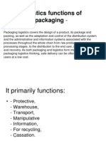 Logistics functions of packaging-