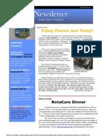 Rotary Newsletter Aug 30 2011