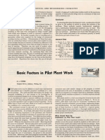 Basic Factors in Pilot Plant Work