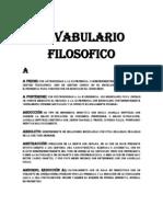 VOCAVULARIO FILOSOFICO