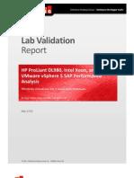 HP Intel VMware Validation Report