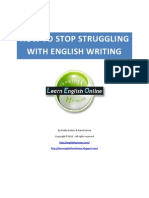 How to Stop Struggling With English Writing
