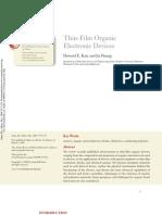 Thin Film Organic Electronic