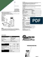 Soladyne Power Pro 7400 Solar Flashlight and Radio Operating Instrucitons