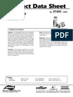 Soladyne Power Pro 7400 Solar Flashlight and Radio Product Data Sheet