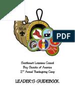 2011 Thanksgiving Camp Guidebook Draft