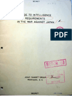 JTG, Guide to Intelligence Requirements in the War on Japan, RG165.79.50