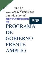 Programa de Gobierno Encuentro Por Guatemala