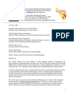 Joint Letter and Report by AAPP and USCB, Oct 6, 2008