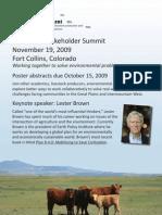 Stakeholder Summit Poster 20090923 v5