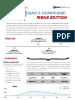 Hurricane Irene Metrics Report Aug. 2011