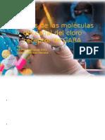 Modelos de las moléculas del canal del cloro