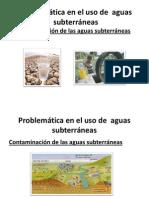 Problemática en el uso de  aguas subterráneas