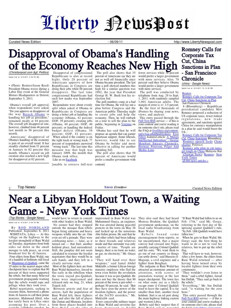Liberty Newspost Sept-06-2011 | Governo dos Estados Unidos