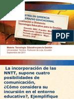 Incorpoarcion de Las NNTT Supone Cuatro Porsibilidades de Comunicacion