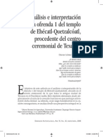 interpretacion de ofrenda a quetzalcoaltl