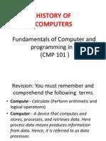 CMP 101 Set 2 Histry Computer