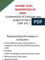 CMP 101 Set 3 Machine Repre Data