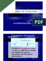 PARÁMETROS ESTADADÍSTICOS DE ESTADISTICOS DE POSICION