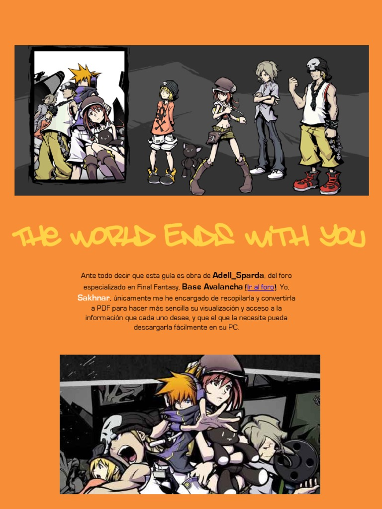 World Ends You No With Guia Oficial The PnN0wym8vO