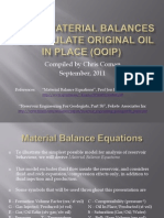 Use of Material Balances to Calculate Original Oil