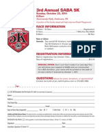 SABA 5K Race Flyer 2011