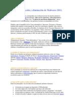 Guía de detección y eliminación de Malwares 2011