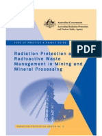Code of Practice & Safety Guide by Australian Radiation Protection and Nuclear Safety Agency