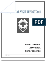 Industrial Visit Report by Ajay