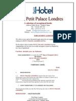 Petit Palace Londres Employment Offer Letter