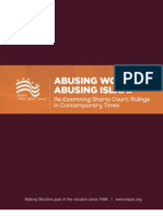 Abusing Women Abusing Islam