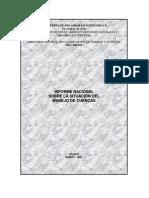 MDSyP 2001 Informe Nacional Sobre Manejo de Cuencas