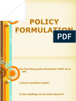 Formulation Policy