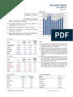 Derivatives Report 7th September 2011