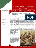 591st Sapper Company August Newsletter