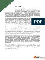 Development of PHP