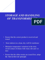 7_storage and Handling of Transformer Oil