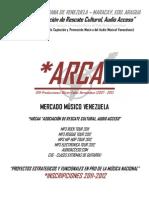 INSCRIPCIÓN ARCAA 2011-2012 (COMPILADOS DE REGGAE Y ROCK VENEZOLANO 2012)