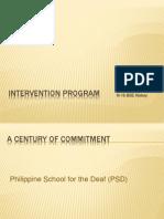 Intervention Program