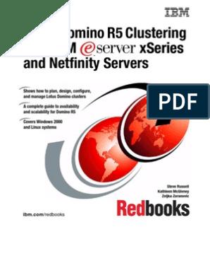 Domino Clustering | Ibm Notes | Load Balancing (Computing)