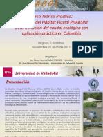Curso Caudal Ecológico PHABSIM Colombia UVA-GAIACOL