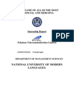 Internship Report on Pakistan Telecommunication Limited