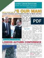 London Members Newsletter Sept 2011 Colour PDF