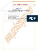Civil Service - English & Essay - 1977, 1997 - 2008