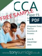 2011 Paper F5 QandA Sample Download v1